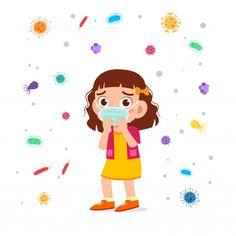 Sad cute kid girl cough use masker Pop Art Girl, Video X, Cellphone Wallpaper, Disney Fan Art, Anime Art Girl, Cute Illustration, Kids Girls, Cute Kids, Girl Doctor