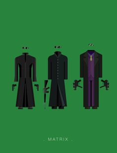 Brazil-based Illustrator Frederico Birchal has created a series of minimalistic posters featuring the costumes of popular movies and TV shows…