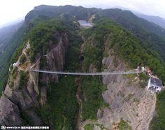 Galería de China inauguró puente de cristal de 300 metros de largo - 1