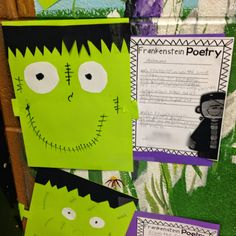 Life in Fifth Grade: Frankenstein Poetry (Freebie included!)