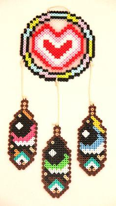 Powerpuff Girls Dream Catcher Perler Beads by ThatsTheBeadsKnees