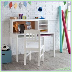 52 Stunning Desk Design Ideas For Kids Bedroom. Get the most out of your kid's bedroom design by adding the perfect desk. Use this guide to kid's bedroom desk design . Chair For Kids Room, Childrens Desk And Chair, Desk And Chair Set, Desk Chairs, Childrens Bedroom, Desk Lamp, Room Chairs, Desk For Girls Room, Bag Chairs