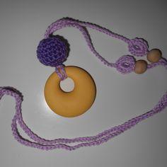 Hordozós nyaklánc - rágcsalánc, Ékszer, óra, Baba-mama-gyerek, Játék, Nyaklánc, Meska Baba, Teething Necklace, Crochet Necklace, Necklaces, Jewelry, Products, Jewlery, Crochet Collar, Bijoux