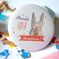 Badge annonce grossesse choupinou Badge, Decorative Plates, Pregnancy, Mini, Baby Kitty, Rabbits, Photographs, Pregnancy Planning Resources, Badges