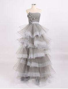 Gardenia/wedding gown/bridal dress/evening by pandaandshamrock, $350.00