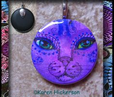 Cat Moon Pendant - Karen Hickerson