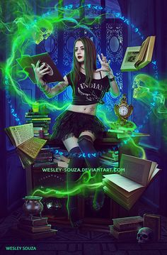 Special Spell by Wesley-Souza on DeviantArt Fantasy Witch, Witch Art, Fantasy Warrior, Beautiful Fantasy Art, Dark Fantasy Art, Character Concept, Character Art, Character Maker, Avatar Poster