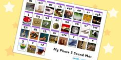 Twinkl Resources >> Phase 3 Photo Sound Mat >> Printable resources for Primary, EYFS, KS1 and SEN.  Thousands of classroom displays and teaching aids! Literacy, English, Letters and Sounds, Sound Mats, Phase 3