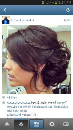 Something simpler than this (keep the braid!) would be cute - #bridesmaid