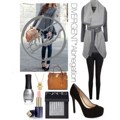 DIVERGENT* Abnegation Get the look by dianasirca on Polyvore featuring polyvore fashion style Jane Norman Paige Denim Jessica Simpson Michael Kors Bling Jewelry Estée Lauder NARS Cosmetics ORLY