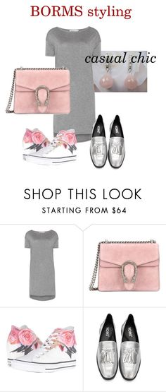 """casual chic"" by cat-line on Polyvore featuring mode, T By Alexander Wang, Gucci en Converse"