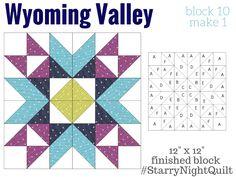 Wyoming Valley block - from the Starry Night Quilt Sampler Quilt (Block 10), via fairfieldworld