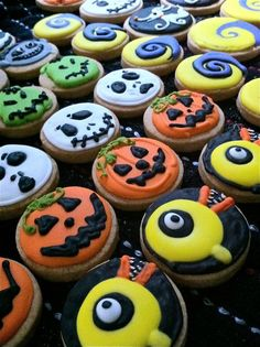 Nightmare Before Christmas. Fun cookies for a baby showers.