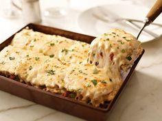 Creamy White Chicken Alfredo Lasagna - AMAZING!!