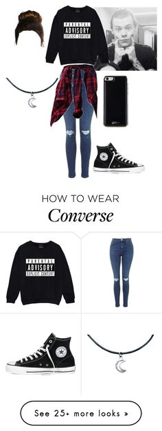 """h.s"" by hella-jena on Polyvore featuring mode, Converse et Gooey"
