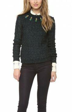 Tory Burch Lucy Sweater worn by Lemon Breeland on Hart of Dixie. Shop it: http://www.pradux.com/tory-burch-lucy-sweater-27875?q=s24