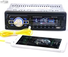 1 DIN Car In-Dash Stereo Audio FM Aux Input Receiver SD USB MP3 WMA Radio Player #YYT103