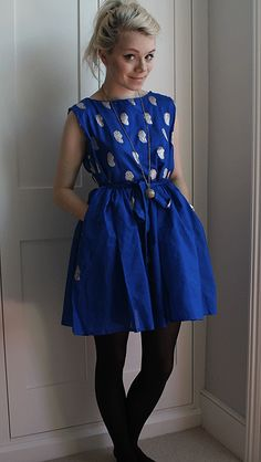 DIY tutorial on how to make this cute dress on her blog! check it out!