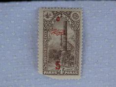 1914 Ottoman Turkey Postes Ottomanes Brown 4 Paras w/ overprint , $2.99