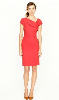 Origami sheath dress from J.Crew