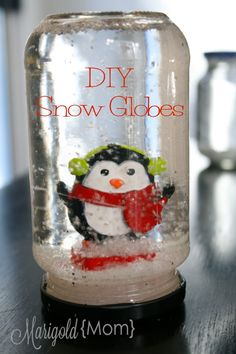 Kid's Crafts: DIY Snow Globes. What kid doesn't love a snow globe?!