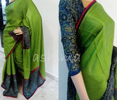 Code:1711163 - Tussar Silk Saree With Ajrak Silk Blouse, Price INR:11400/-