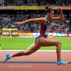Ivana Spanovic, Serbia, long jump 2017 IAAF World Championships London. Running Man Challenge, Ripped Body, Long Jump, Runners High, Love Fitness, Sport Body, Female Athletes, Women Athletes, Sports Women