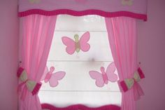 Cortinaje infantil Doll House Curtains, Pink Curtains, Cool Curtains, Kitchen Curtains, Feminine Bedroom, Beautiful Curtains, Curtain Designs, Big Girl Rooms, Kids Decor