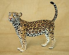 Baltazar the Jaguar: Needle felted animal sculpture by Megan Nedds of The Woolen Wagon