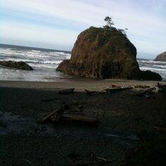 Oregon beach rock outcropping