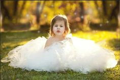 Buttercream Tutu Dress: Flower Girl Jr. by FloppyBunnyBoutique
