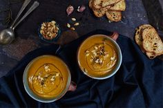 This easy pumpkin soup recipe is perfect for using up leftover pumpkin and makes a great wintery starter