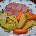 Corned Beef and Roasted Cabbage, Carrots and Potatoes