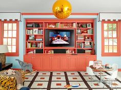 Bold Built-Ins - Fun New Decorating Ideas on HGTV
