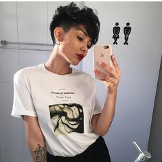7 Steps to Healthy Natural Hair Tomboy Hairstyles, Pixie Hairstyles, Female Hairstyles, Girl Short Hair, Short Hair Cuts, Short Hair Makeup, Curly Hair Styles, Natural Hair Styles, Bowl Haircuts