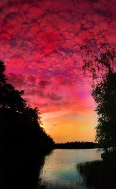 Finland summer night by KariLiimatainen.deviantart.com on @deviantART