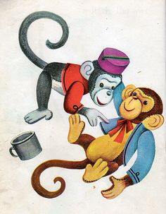 Mr. Noah and his Family, Illustrations by Alice & Martin Provensen, 1948- Toy Monkeys