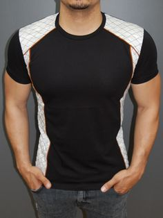 R&R Men Side Pat T-shirt - Black