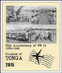 Stamp: 75th anniversary of World War II (Tonga) (75th anniversary of World War II) Mi:TO BL102