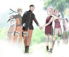 NaruSaku The Last/Naruto hold hand to Sakura Naruhina, Naruto Uzumaki, Anime Naruto, Hinata, Naruto Art, Naruto And Sasuke, Sakura Haruno, Naruto E Sakura, Naruto Family