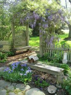 3 Playful Cool Ideas: Backyard Garden Design To Get backyard garden landscape how to grow.Backyard Garden House Tips backyard garden design to get. Cottage Garden Design, Diy Garden, Dream Garden, Spring Garden, Garden Pallet, Garden Beds, Garden Art, Small Cottage Garden Ideas, Garden Whimsy