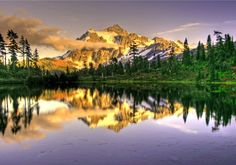 Mt. Shuksan in the North Cascades jigsaw puzzle in Great Sightings puzzles on TheJigsawPuzzles.com