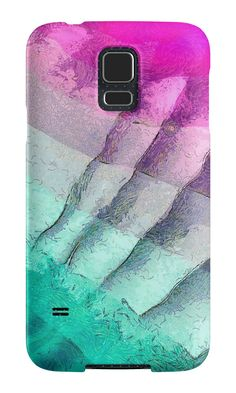 """Abstract art ""Purple and turquoise"""" Samsung Galaxy Cases & Skins by floraaplus 