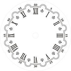 Plantillas para hacer Relojes de Pared.Esferas para Decorar