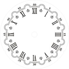 Downloadable clock faces printables pinterest - Plantillas para pintar paredes para imprimir ...
