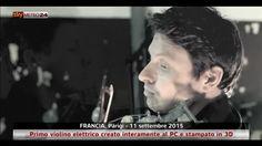 Primo violino elettrico da stampante 3D a Parigi