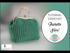 YouTube Crochet Wallet, Crochet Clutch, Crochet Handbags, Crochet Purses, Handbag Tutorial, Diy Handbag, Diy Purse, Tutorial Pochette, Crochet Bag Tutorials
