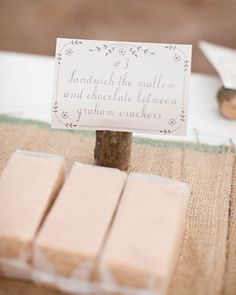 S'more Station for an Outdoor Reception