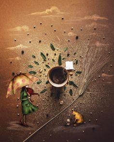 """Mi piace"": 959, commenti: 35 - Cinzia Bolognesi (@cuordicarciofo) su Instagram: ""[Sprinkling day] Hi friends, sometimes I get lost :) #littlecoffeestories (more or less)"""