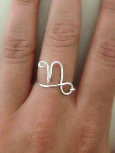 Zodiac Sign RingCapricorn by caseyxxlynn on Etsy, $9.00